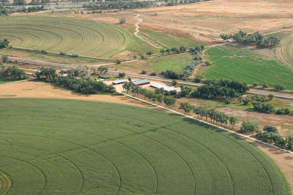 Arial View Wagonhound Farm